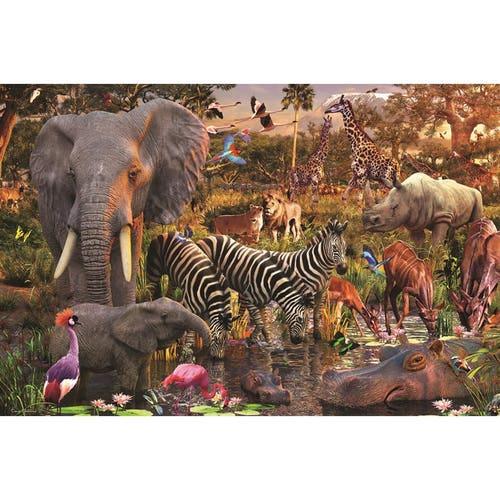 CASSE-TÊTE 3000 ANIMAUX DU CONTINENT AFRICAIN