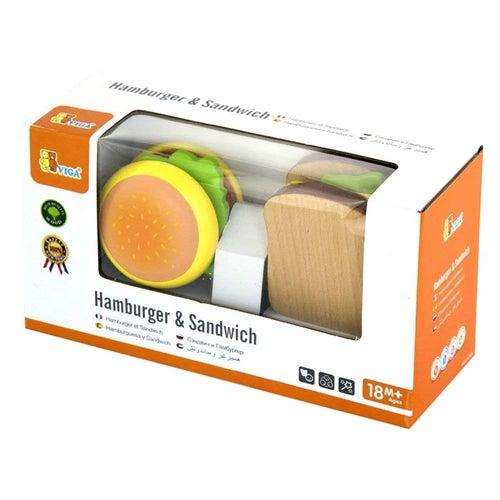 HAMBURGER & SANDWICH EN BOIS