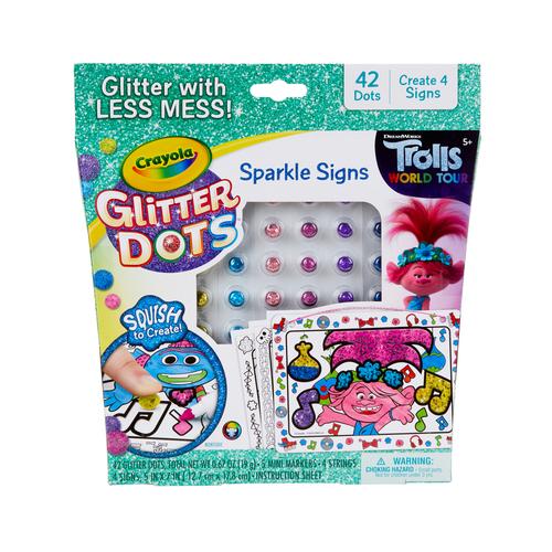 Affiches scintillantes Crayola Glitter Dots Tourné