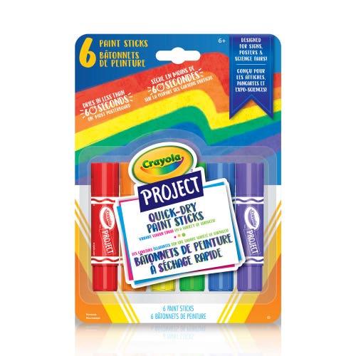 6 bâtonnets de peinture à séchaque rapide Crayola