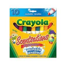 10 marqueurs lavables Crayola Scentsations
