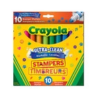 10 marqueurs timbreurs lavables Crayola Ultra-Clea