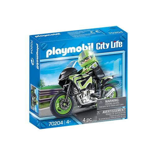 Pilote et moto