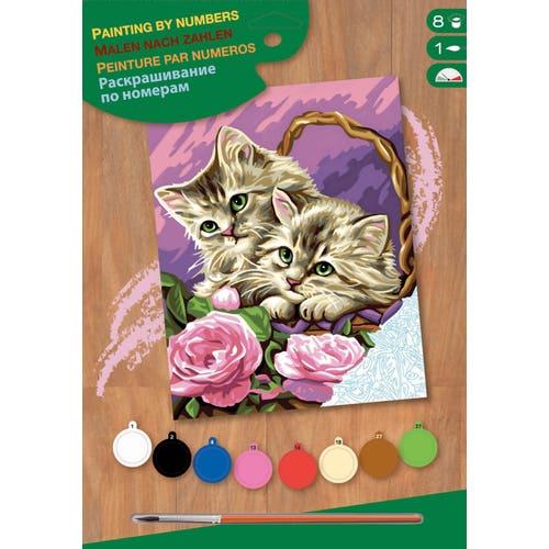 Peinture à numéros junior - Panier de chatons