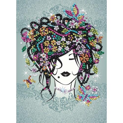 Sequin Art Craft Teen - Fille Fleurs