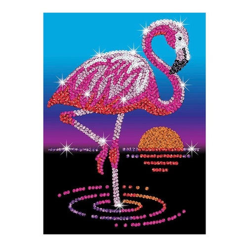 Sequin Art Red - Frankie le flamant rose