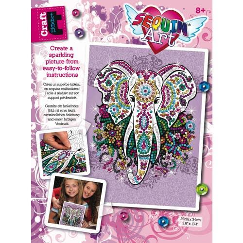 Sequin Art Craft Teen - Éléphant