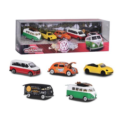 Majorette - Ens. 5 voitures Volkswagen