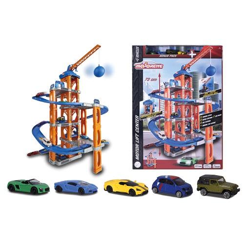 Majorette - Garage Motor Lift Center&5 autos(0821)