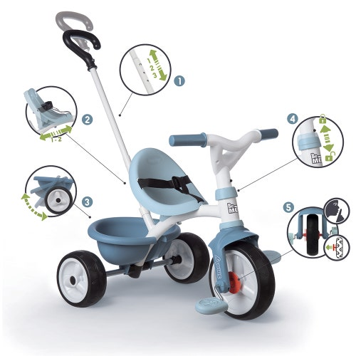 Smoby - Tricycle Be Move Bleu
