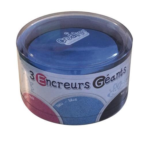 Encreurs géants ronds 3# rose-bleu-noir
