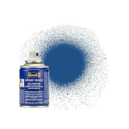 Aérosol bleu mat