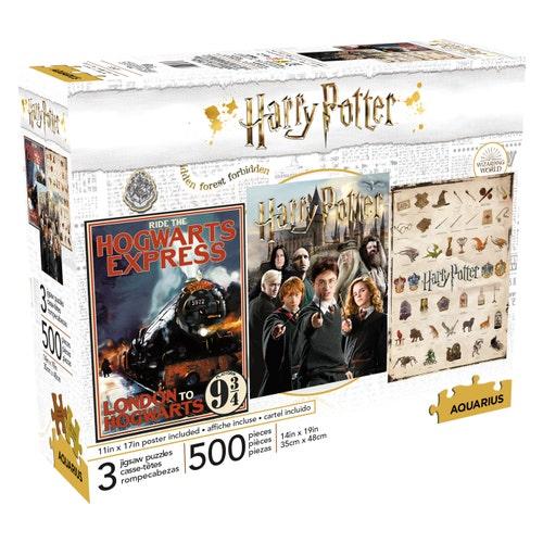 Casse-tête ensemble 3 x 500 pmorceaux Harry Potter