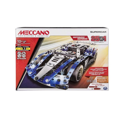 MECCANO ENSEMBLE 25 MODELES SUPER CAR